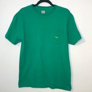 HUF front pocket cotton t-shirt